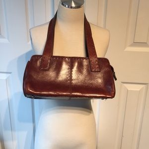 FOSSIL brown leather doctors bag